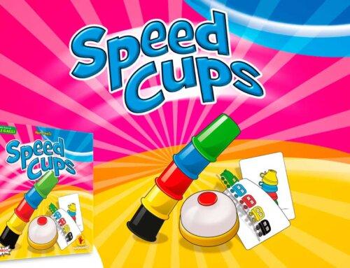 5 copos coloridos, vários desenhos diferentes e uma sineta: Speed Cups chegou!
